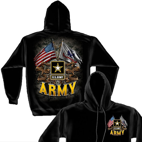US ARMY DOUBLE FLAG HOODIE