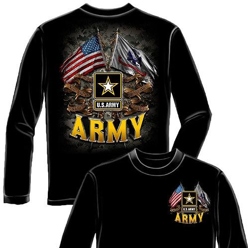 US ARMY DOUBLE FLAG LONG SLEEVE