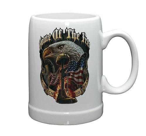 Home of Free Stoneware Beer Mug