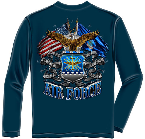 DOUBLE FLAG AIR FORCE EAGLE LONG SLEEVE