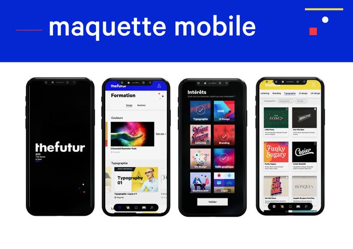 Maquette mobile