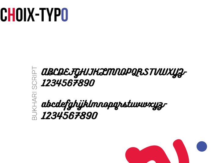 Choix typographique
