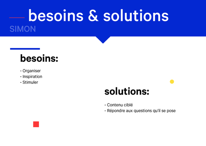 Besoins & solutions