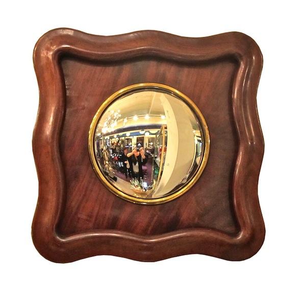 Mahogany Framed Bull's Eye Mirror