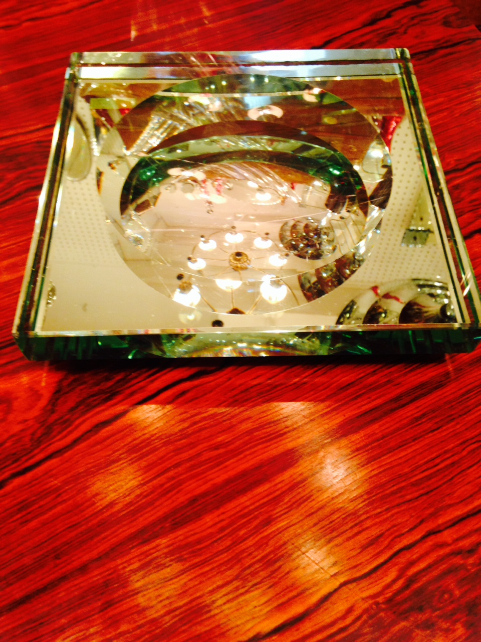 Large Mirrored Shallow Tray