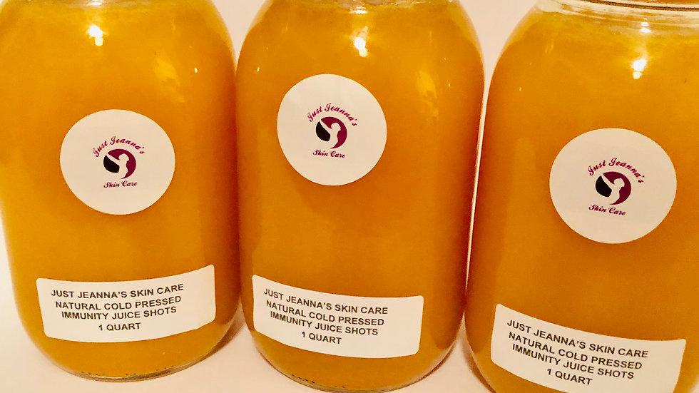 Just Jeanna's Natural Cold Pressed Juice Shots 1 Quart