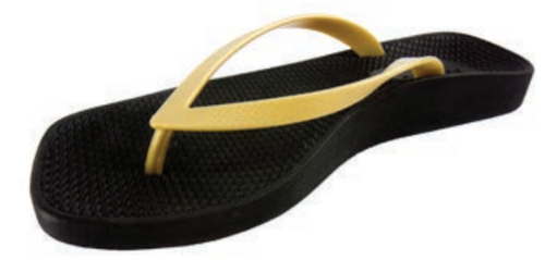 ce1130a156 Archline Breeze Orthotic Flip Flops – Black/Gold