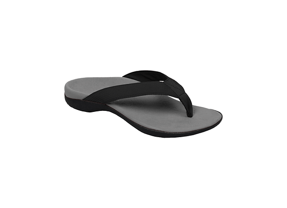 AXIGN ORTHOTIC FLIP FLOPS – GREY WITH BLACK