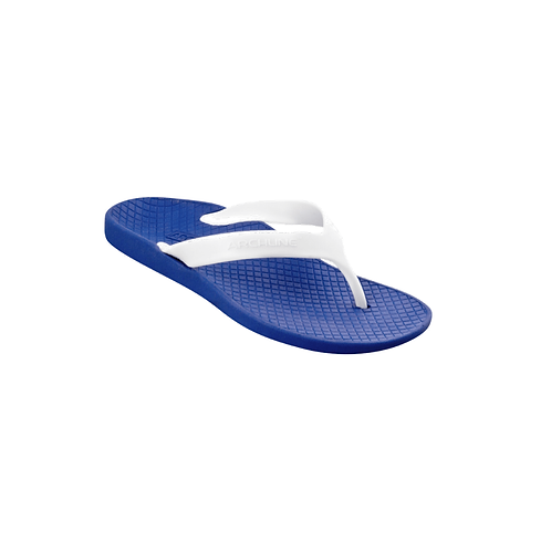 ARCHLINE ORTHOTIC THONGS - BLUE/ WHITE