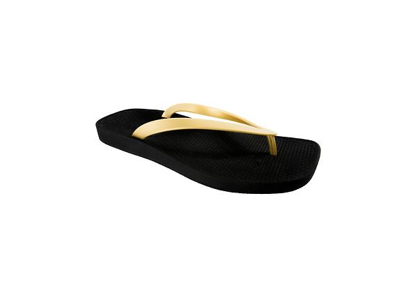 ARCHLINE BREEZE ORTHOTIC FLIPFLOP - BLACK/GOLD
