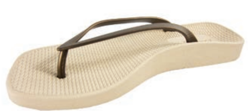 8ee271d3f3 Archline Breeze Orthotic Flip Flops – Beige/Bronze