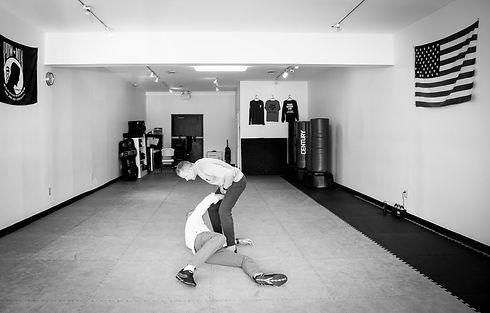 Fight scene - self-defense training