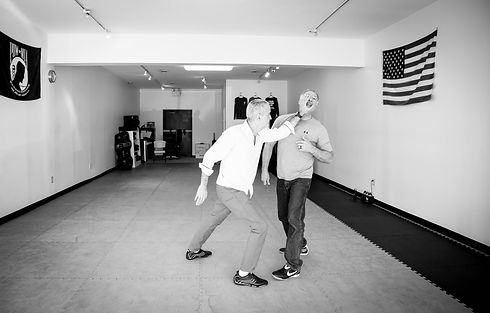 Fight scene -Basic Combatives self-defense training