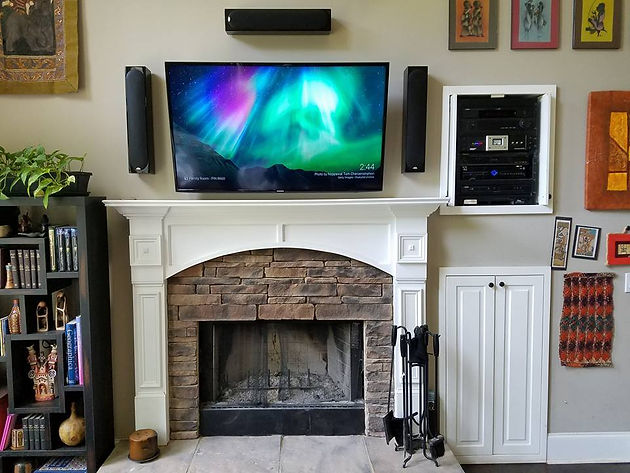 additionally, you'll want to avoid any unsightly tangles of wiring so they  don't ruin the aesthetic design of your home theater and cause a potential  safety