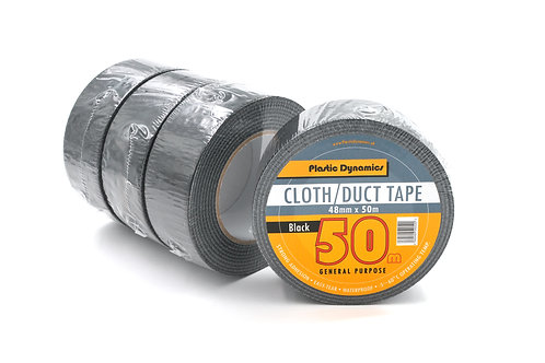 x4 Black Rolls Cloth / Duct Tape 48mm x 50m
