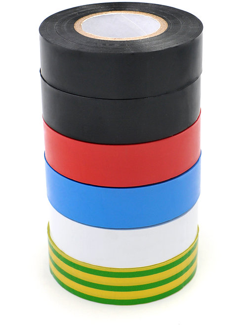 x6 Rolls PVC Electricians Insulation tape 19mm x 20m