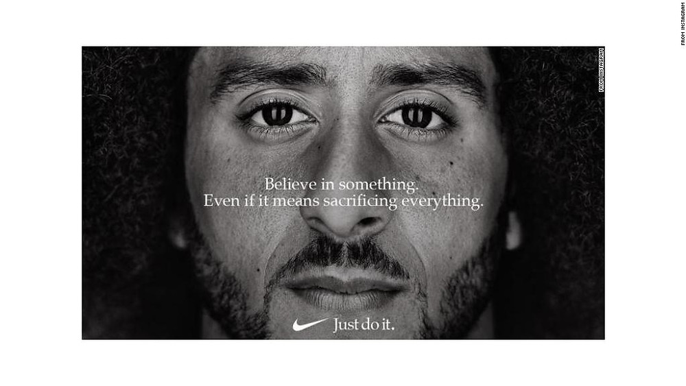 kaepernick nike ad believe in something sacrifice everything