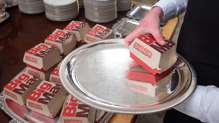 trump fast food dinner in the White House big macs