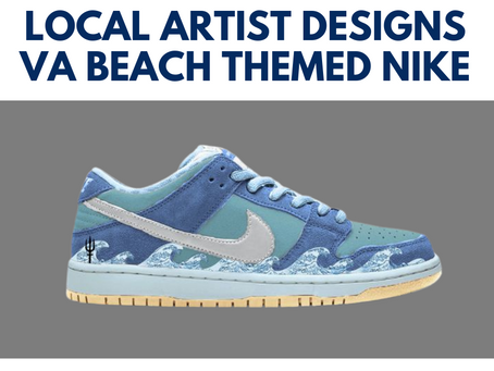 757 Local Designs A Wavy Virginia Beach Themed Nike SB Dunk Low Shoe!