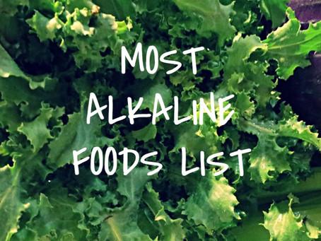 Most Alkaline Foods List
