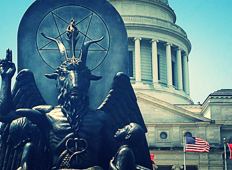 The Satanic Temple Unveils A Controversial Baphomet Statue On Arkansas's State Capitol