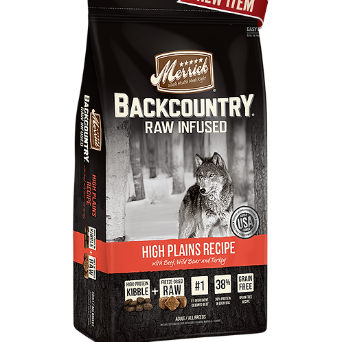 Merrick Backcountry Raw Infused High Plains Recipe