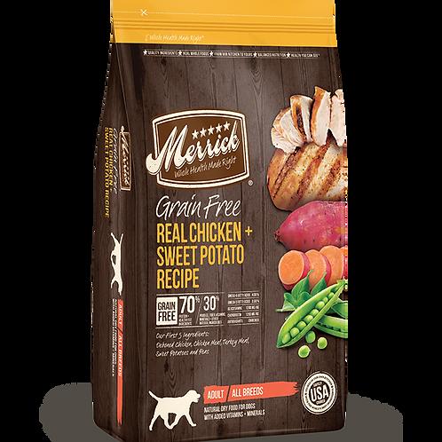 Merrick Grain Free Real Chicken + Sweet Potato Recipe