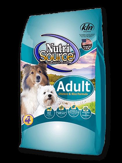 NutriSource Adult Dog Food Chicken & Rice Formula