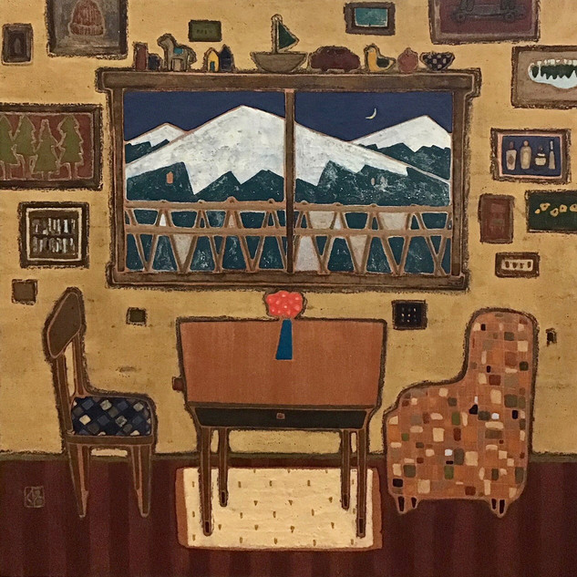 山の見える部屋