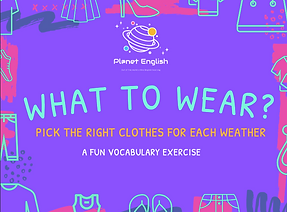 What to wear? activity thumbnail