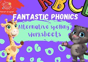 Fantastic Ohonics alternative spelling worksheet thumbnail.