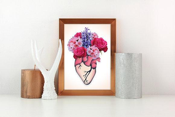 Flower Heart Digital Print