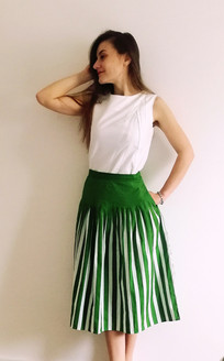 Pleated top - white