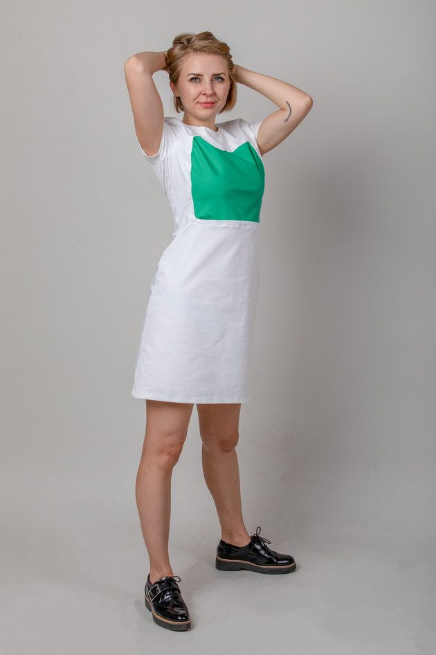 The Personalise Me dress with green
