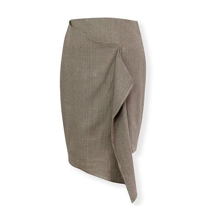 Organic draped pencil skirt
