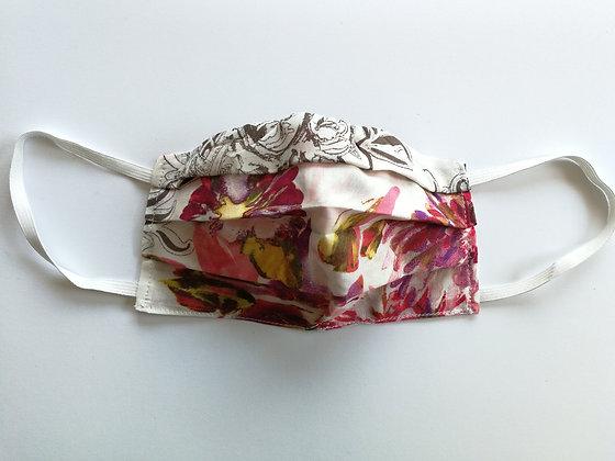 Italian cotton floral face mask
