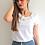 Thumbnail: Bamboo Silk Flower T-shirt - White