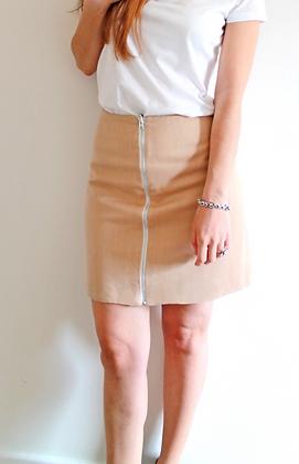 Organic reversible skirt - Beige and White