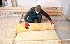 Work composed of mineral wool insulation
