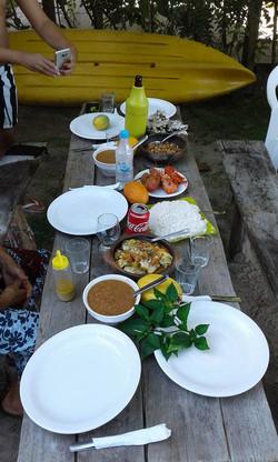 Restaurante na praia do moreré