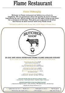 Flame Butcher Shop Menu