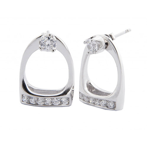 Crystal Stirrup Earrings