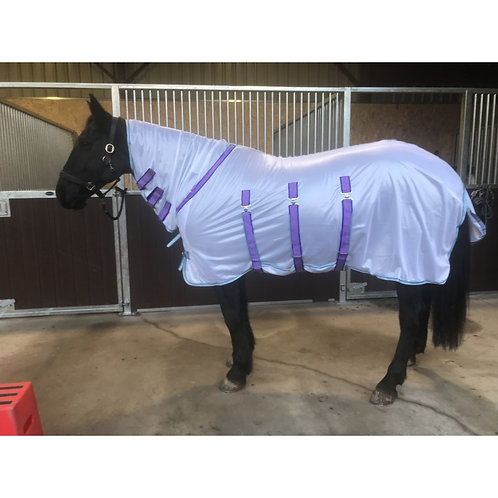 Buxton Combo Fly Rug With Belly Flap Lilac