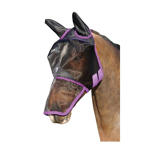 Hy Equestrian Mesh Full Mask with Ears and Nose Coverage