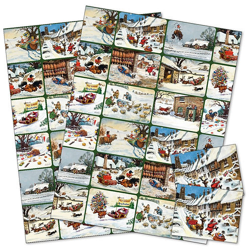 Thelwell Christmas Gift Wrap Pack