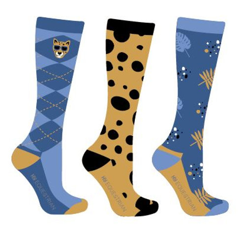 Hy Equestrian Chico the Cheetah Socks (Pack of 3)