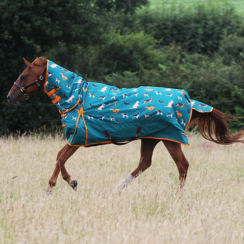 Who Let The Dogs Out Print 200g Combo Turnout Rug