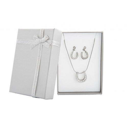 Necklace and earring set - Horseshoe