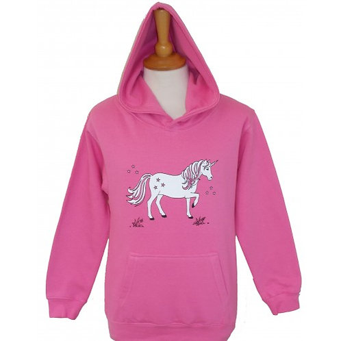 British Country Collection Dancing Unicorn Childs Hoodie