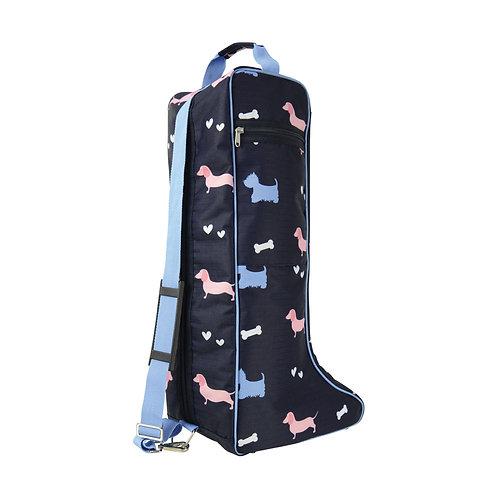 Hy Liza Dog Print Boot Bag